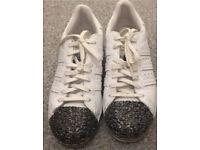 Ladies adidas crystal toes superstars