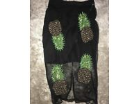Ladies size 8 BNWT Sheer Pineapple Skirt with Embellishments was £45 from River Island