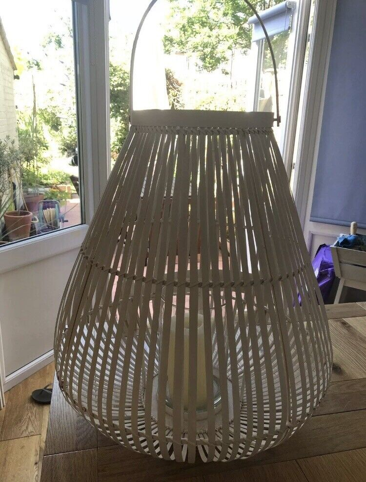 Large White Bamboo Lantern - The White Company | in Palmers Green, London |  Gumtree
