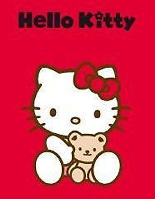 HELLO KITTY Fleecedecke Kuscheldecke Bear Bär ROT HK051