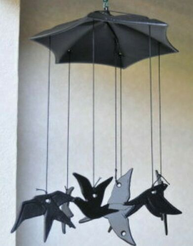 Japanese FURIN Wind Chime Bell Swallow Nanbu Cast Iron Mobile/ Made in Japan