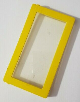 """BARBIE DOLL FURNITURE A-FRAME DREAM HOUSE 1978 REPLACEMENT 3.5"""" YELLOW WINDOW"""