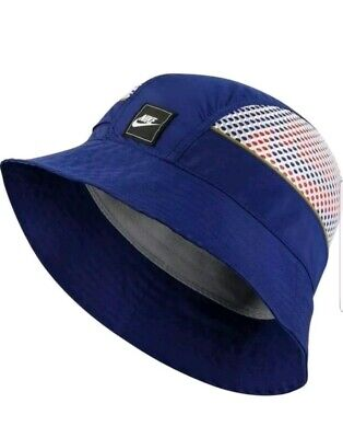White Bucket Hat (Nike Sportswear Bucket Hat Mesh Cap Royal Blue White Orange)