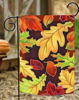 - Toland Leafy Leaves 12.5 x 18 Colorful Fall Autumn Falling Leaf Garden Flag