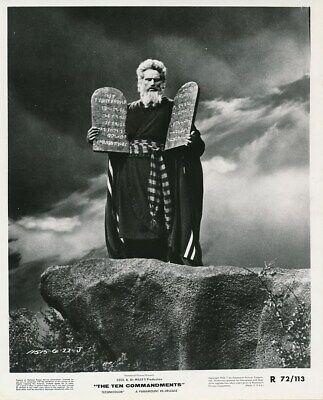 CHARLTON HESTON MOSES Tablets Original Vintage THE TEN COMMANDMENTS Studio Photo (Ten Commandments Tablets)