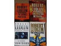 Robert Ludlum hardback books.
