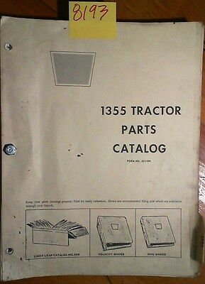White Oliver Cockshutt 1355 Tractor Parts Catalog Manual 270 173 473