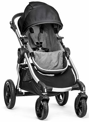 Baby Jogger City Select All Terrain Single Stroller Silver Frame Black Gray NEW
