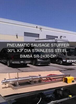 Sausage Stuffer- Bimba Pneumatic Cylinder- Stainless Steel