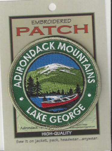 Adirondack Mountains Lake George New York State Souvenir Patch  Adirondacks 146
