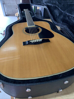 YAMAHA FG430A Acoustic Guitar with Hard Case + FISHMAN Microphone MINT CONDITION