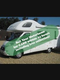 Motorhomes required! £300 to £30,000 same day payment and collection!