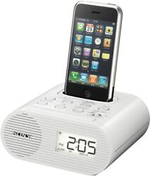 open box Sony ICF-C05IP iPhone/iPod Clock Radio Speaker Dock
