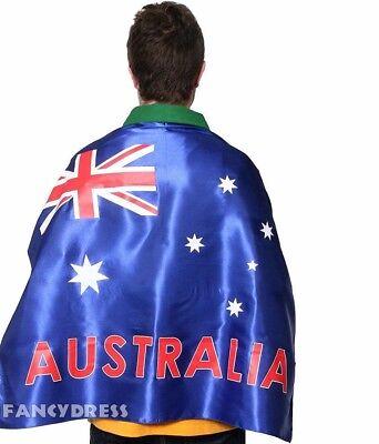 Australisch Satin Spaß Flag Umhang Kostüm Zubehör australien-tag Sport Treffern ()