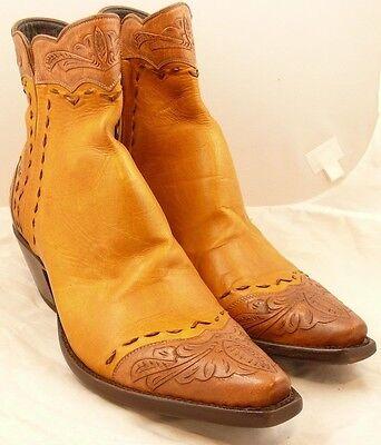 Stallion Boots, Zorro, Caramel w/ Tooling