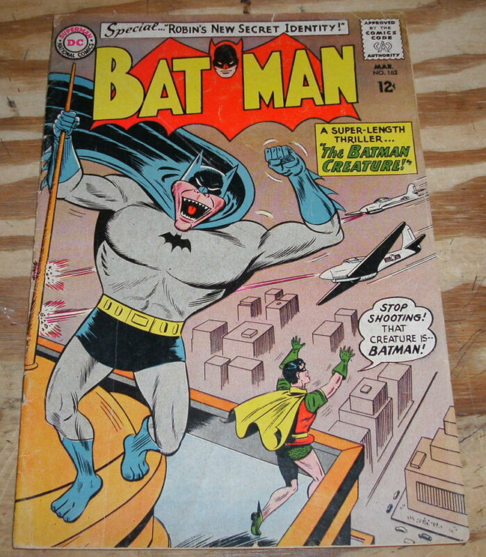 Batman #162 comic book very good plus 4.5