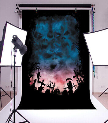 Scary Halloween Night Scene Outdoor Backdrop 4x6ft Background Photography Props - Desktop Backgrounds Halloween Scary