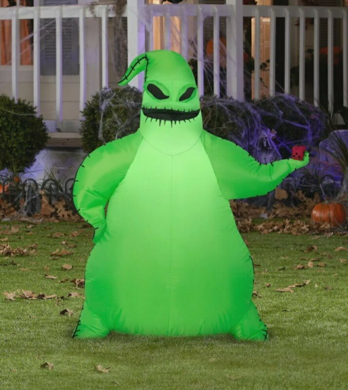 Gemmy 3.5ft Airblown Inflatable Green Oogie Boogie Disney Nightmare Before Xmas