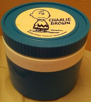 CHARLIE BROWN- THERMOS INSULATED JAR- 1952