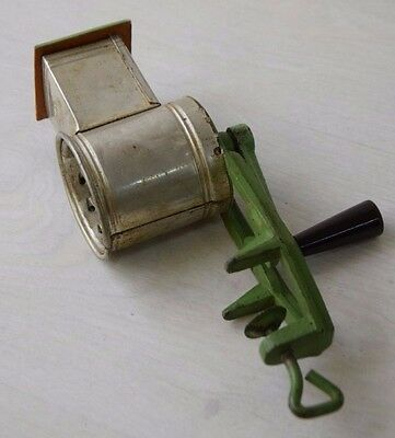 Vintage Collectible Metal Communist Bulgarian Mechanical Grater Cheese And Nuts