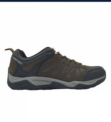 New OZARK TRAIL Men's Mesh Chocolate Leather Low Hiking Shoes