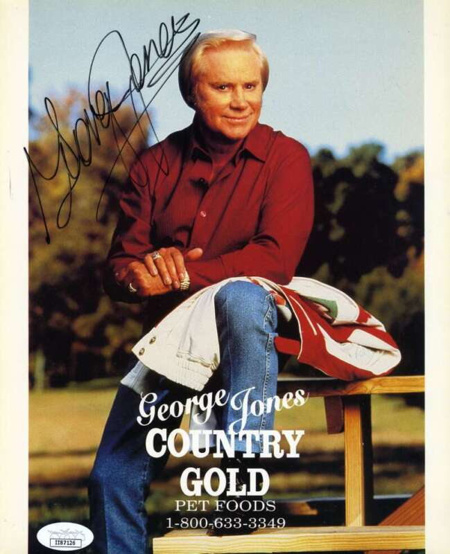 George Jones JSA Cert Signed 8x10 Photo Autograph