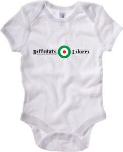 TUM0143-body-Bimbo-Diffidati-Liberi-Italia-Bambino-100-cotone-Bimba