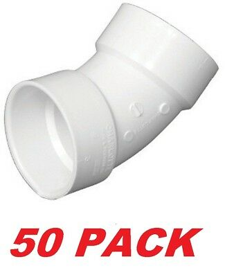Charlotte Pipe 2-in Dia 45-degree Pvc Schedule 40 Plumbing Elbow Fitting -50pack