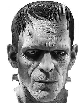 Frankenstein Mask Full Latex Universal Studios Boris KarlOff Classic- Fast Ship - Frankenstein Halloween Mask