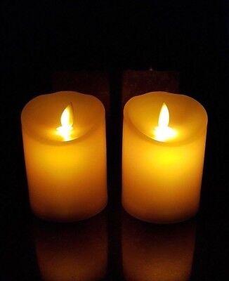2x LED Lumino Tremolante Funerario Decorazione Lampada per Tomba Candele