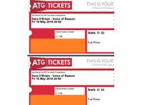 Dara O'Briain 18 May Liverpool Empire Comedy Tickets x 2