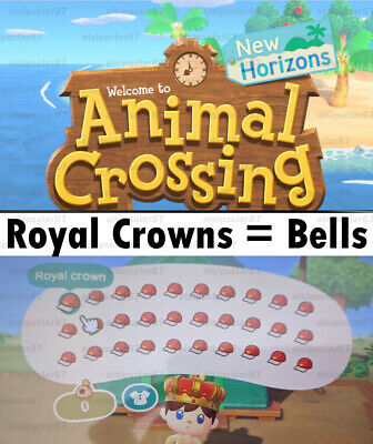 [Animal Crossing New Horizons] 9 Million Bells or 30 Royal Crowns-10min Delivery