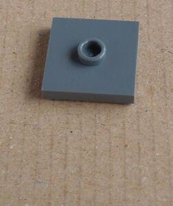 LEGO-100-GRIS-OSCURO-Baldosas-2-x-2-con-leva-87580-NUEVO-Losa-Dark-Bluish-Gris