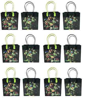 Ninja Turtle Goodie Bags (20 PC Disney Teenage  Ninja Turtle Candy Bags Party Favors Gift Goody goddie)
