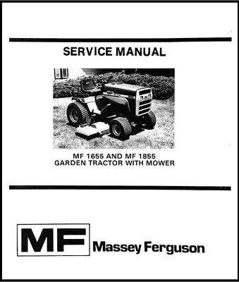 Massey Ferguson Mf1655 Mf1855 Garden Tractor With Mower Service Repair Manual