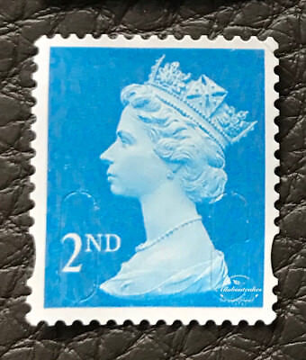 100 x 2nd Class Royal Mail Unfranked Stamps,No Gum ,Off Paper Stamps ,FV £58