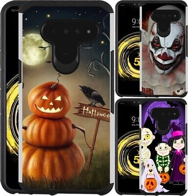 For LG V40 ThinQ Case Hybrid Phone Cover Trick or Treat Scary Clown Halloween