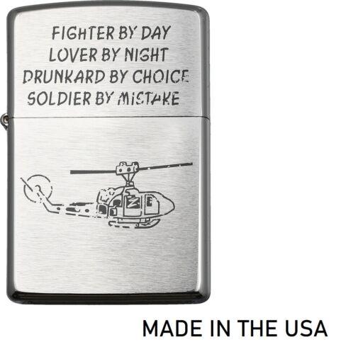 Zippo Vietnam Soldier Lighter Brushed Chrome