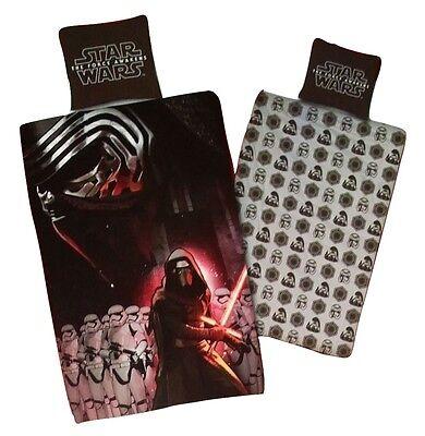 Star Wars Renforce Wende Bettwäsche Set 135 x 200 cm Kylo Ren & Stormtroopers