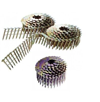 3 Coils Roofing Nails 15 Degree Galvanized Wire Collated Roofing Nails 1-14