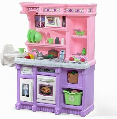 Step2 Little Bakers Kids Play Kitchen /w 30 Piece Accessory Set