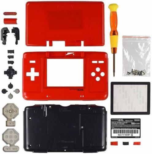 "Nintendo DS Original ""FAT"" Full Replacement Housing Shell Screen Lens RED US!"