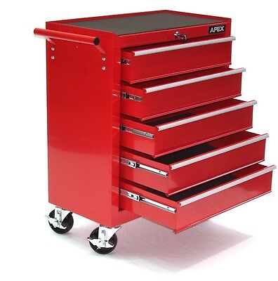 06192 Tool cabinet  5 drawer cart wheel trolley tool chest tray ball bearing