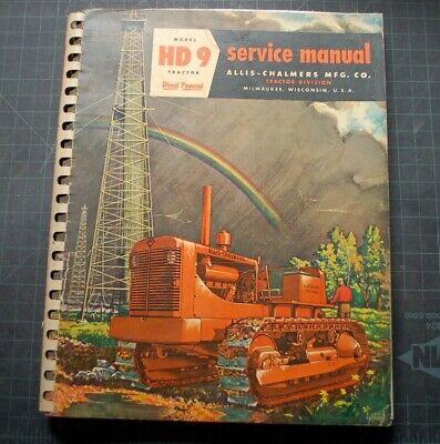 1955 Allis Chalmers Hd9 Tractor Dozer Crawler Service Repair Shop Manual Book