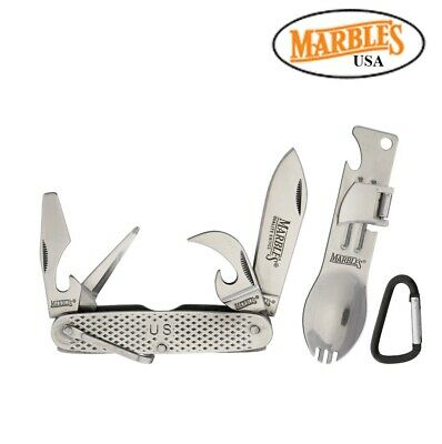 Marbles pocket Knife and Spork Camping combo Gift Set Free Shipping in USA