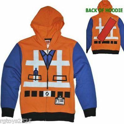 Lego Movie Emmet Construction Hoodie Jacket Size 4-5 6-7 Sweatshirt Childs  (Lego Emmet Hoodie)