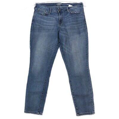 - Levis Denizen Womens Modern Skinny Jeans Blue Medium Wash Denim Slim Fit Leg 12