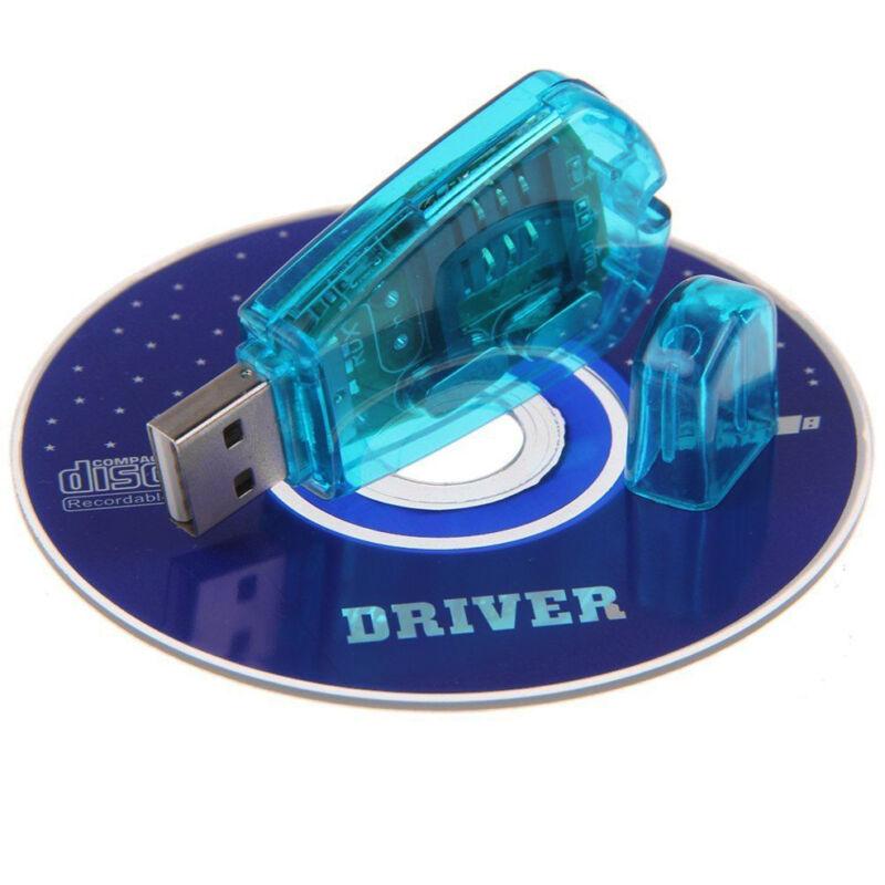 Blue USB SIM Card Reader GSM CDMA Mobile Phones SMS Backup Copier Adapter