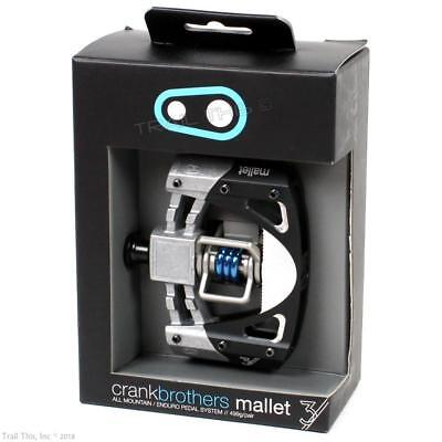 Crank Brothers Mallet E Enduro Clipless Bike Pedals/&Cleat Black or Blue Platform
