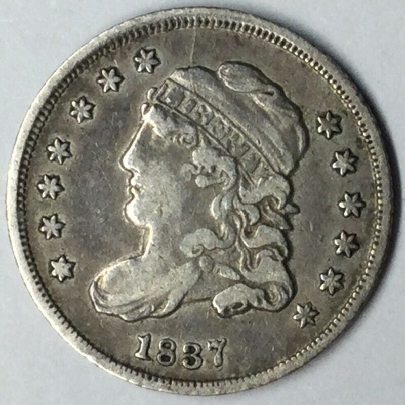 1837 H10C Capped Bust Half Dime XF Uncertified #